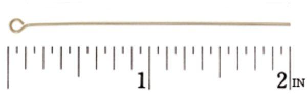 """#497 - 2"""" (22-Gauge) Gold Filled Eye Pin"""