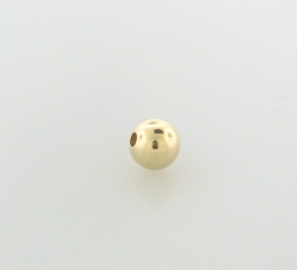 3 - 3mm Gold Filled Plain Round Bead