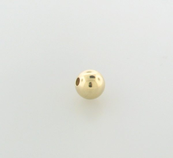 #7 - 7mm Gold Filled Plain Round Bead