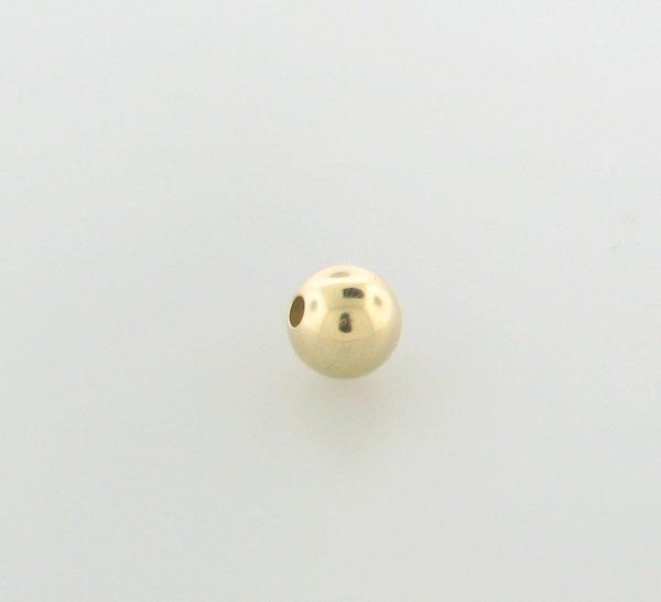 987 - 3mm Gold Filled Large Hole Plain Round Bead