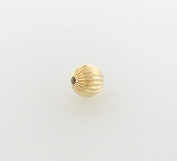 61 - 3mm Gold Filled Corrugated Round Bead