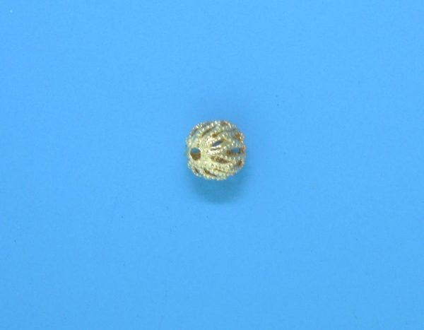 74 - 6mm Gold Filled Filigree Round Bead