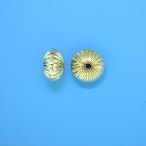 79 - 7mm Gold Filled Straight Corrugated Round Saucer Bead (Rondelle)