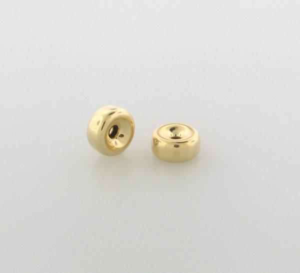 29 - 6.1x3.2mm Gold Filled Plain Flat Rondelle