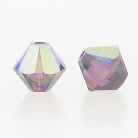 5301/5328 - 6mm Swarovski Bicone Crystal Bead - Amethyst AB