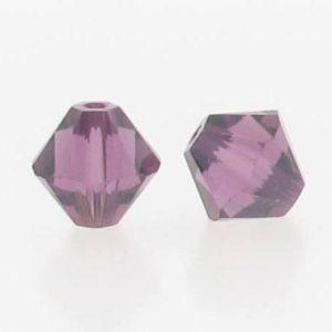5301/5328 - 3mm Swarovski Bicone Crystal Bead - Amethyst