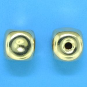 288 - 9mm Gold Filled Square Bead
