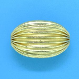 260 - 12.5x19mm Gold Filled Design Oval Bead