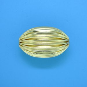 827 - 14x26mm Gold Filled Design Oval Bead
