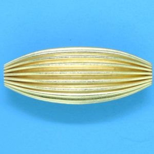 258 - 10x24.5mm Gold Filled Design Oval Bead