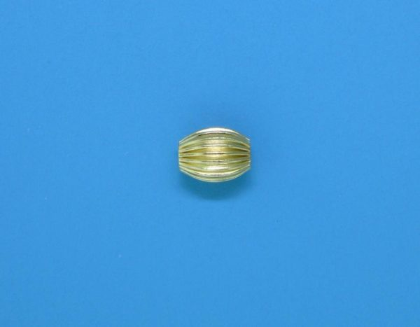 129 - 4x6mm Gold Filled Design Oval Bead