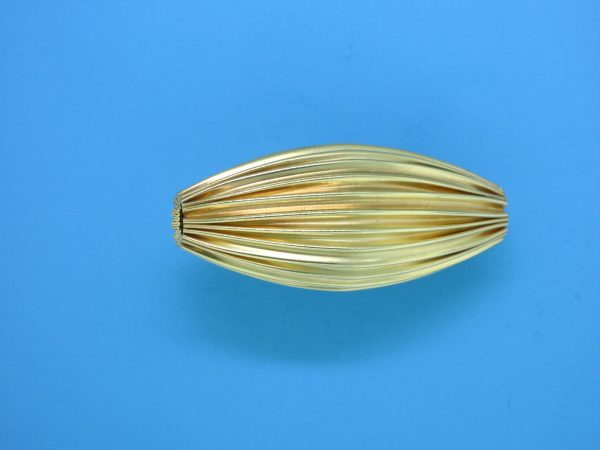 865 - 14x31.5mm Gold Filled Design Oval Bead