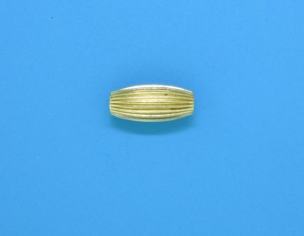 132 - 4x9mm Gold Filled Design Oval Bead