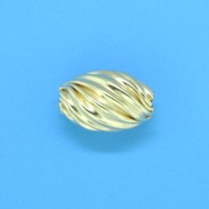 199 - 6.5x10mm Gold Filled Design Oval Bead