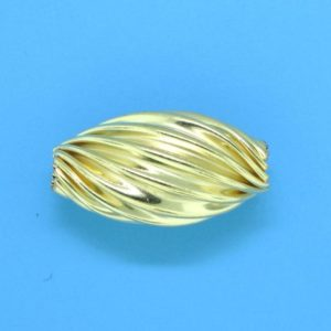 206 - 9.5x18mm Gold Filled Design Oval Bead