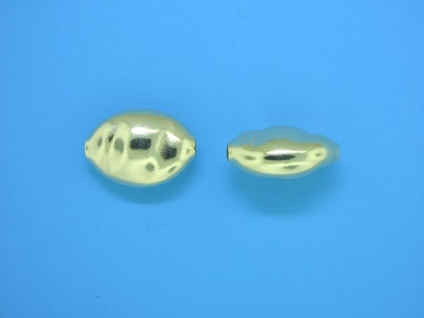 962 - 11x15.5mm Gold Filled Flat Oval Bead