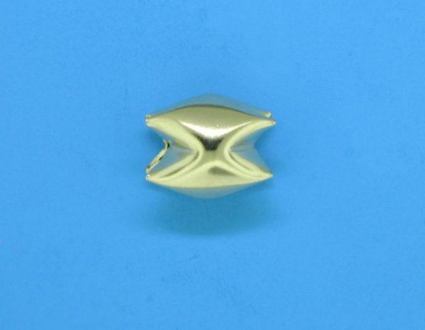 248 - 10x8mm Gold Filled Interlock Bead
