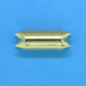 250 - 6x17mm Gold Filled Interlock Bead