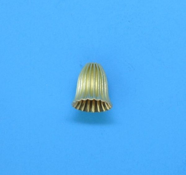 162 - 6x6.5mm Gold Filled Cap Bead