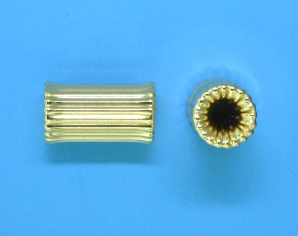 145 - 7x12.2mm Gold Filled Bone Shape Bead