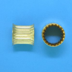 264 - 9.3x9.3mm Gold Filled Bone Shape Bead