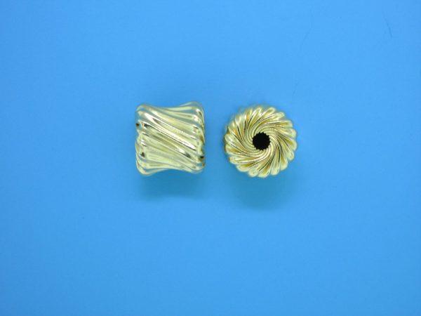 810 - 9.5x10mm Gold Filled Bone Shape Bead