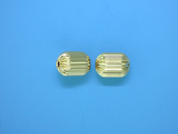 138 - 8x11.5mm Gold Filled Fancy Bead