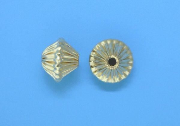 155 - 7.5x8.7mm Gold Filled Fancy Bead