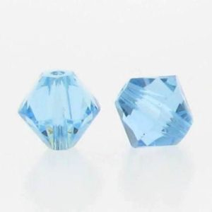 5301/5328 - 6mm Swarovski Bicone Crystal Bead - Aquamarine