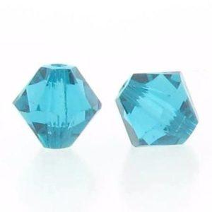 5301/5328 - 3mm Swarovski Bicone Crystal Bead - Blue Zircon