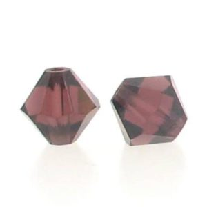 5301/5328 - 6mm Swarovski Bicone Crystal Bead - Burgundy