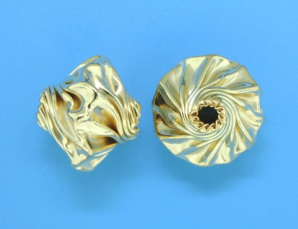 209 - 13.5x15mm Gold Filled Fancy Bead