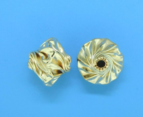 208 - 8.5x10mm Gold Filled Fancy Bead