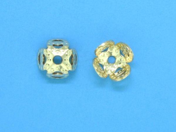 315 - 6mm Gold Filled Bead Cap