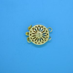 # 371 - 12 mm Gold Filled Round Filigree Clasp