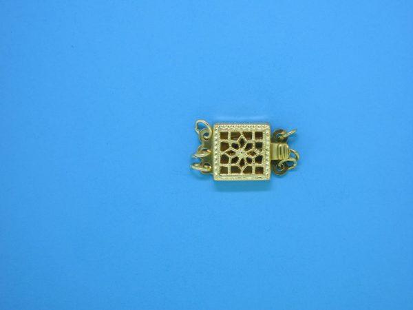 977 - 8mm Gold Filled 3 Strands Square Filigree Clasp