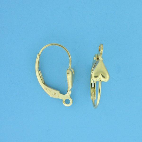 1740 - 14K  Gold Filled Heart Lever Back