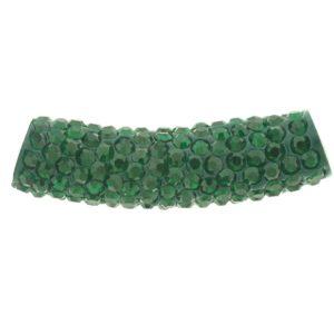 4219 - 9x36mm Shamballa Pave Tube - Emerald