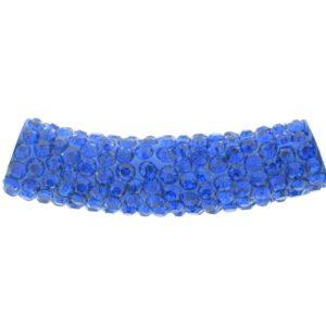 4219 - 9x36mm Shamballa Pave Tube - Sapphire