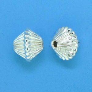 637 - Sterling Silver Fancy Bead