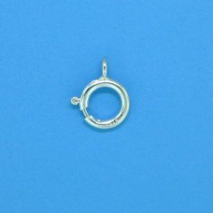 666 - 6mm Sterling Silver Spring Ring