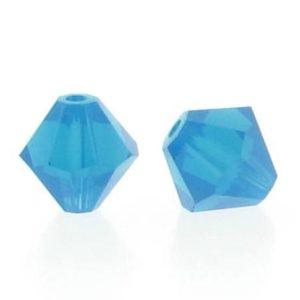 5301/5328 - 6mm Swarovski Bicone Crystal Bead - Caribbean Blue Opal