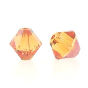 5301/5328 - 6mm Swarovski Bicone Crystal Bead - Chili Pepper