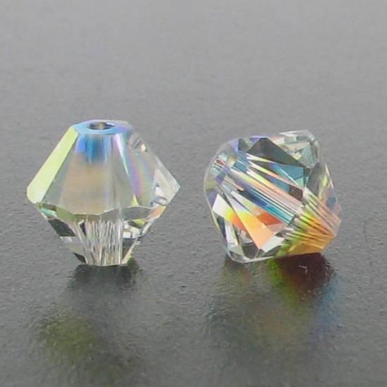 5301/5328 - 6mm Swarovski Bicone Crystal Bead - Crystal AB