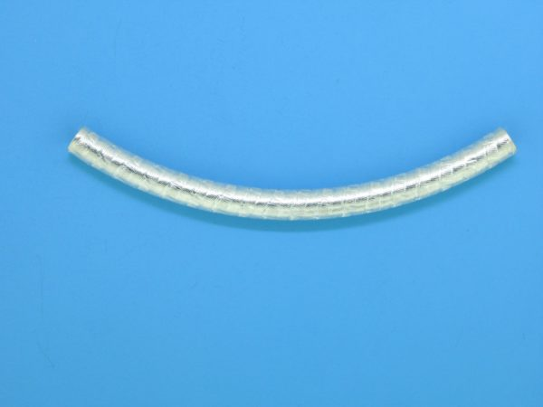 1425 - 5x64mm Sterling Silver Curved Tube