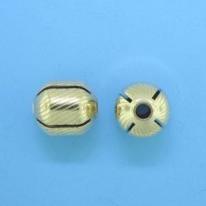 1055 - 10x11mm Gold Filled Fancy Bead