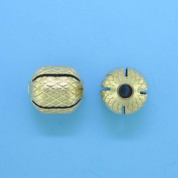 1056 - 10x11mm Gold Filled Fancy Bead