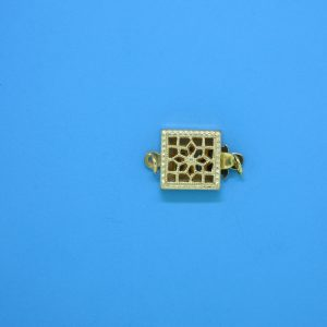 975 - 8mm Gold Filled Square Filigree Clasp