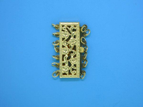 982 - 7 Strand Gold Filled Multi Strand Clasp