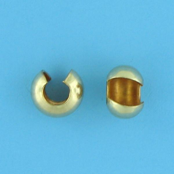 1749 - 4mm Gold Filled Crimp Cover